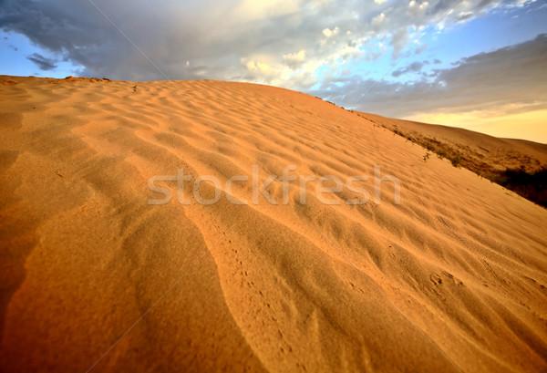 песчаная дюна песок холмы живописный Саскачеван Сток-фото © pictureguy