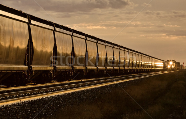 Train at Sunset Stock photo © pictureguy