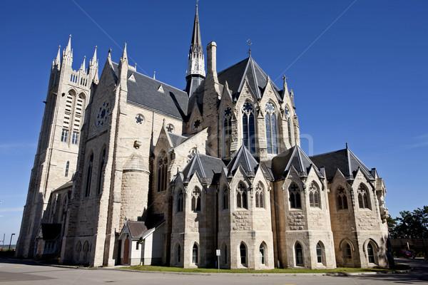 Stock fotó: Templom · hölgy · Ontario · gótikus · építészet · torony