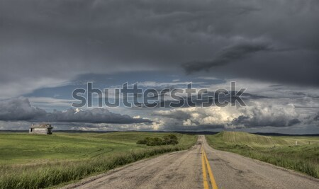 Prairie Hail Storm and Rainbow Stock photo © pictureguy