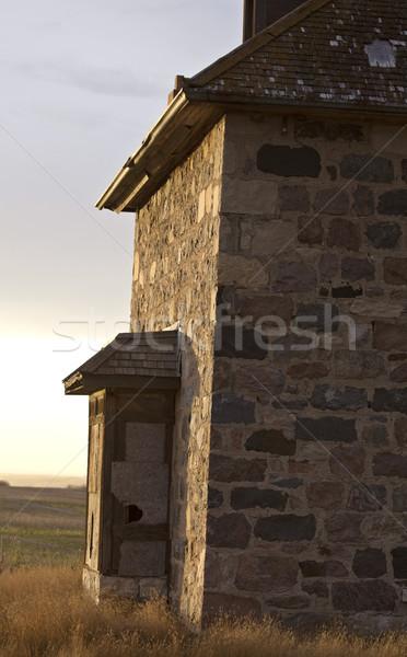 古い 捨てられた 石 家 サスカチュワン州 カナダ ストックフォト © pictureguy