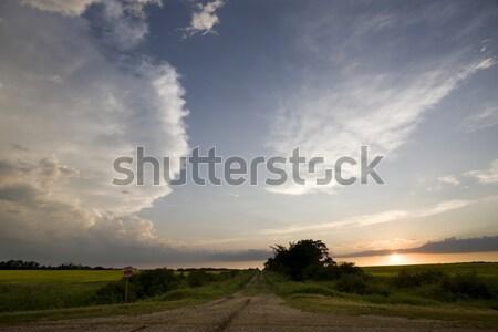 Burzowe chmury saskatchewan siano niebo charakter krajobraz Zdjęcia stock © pictureguy