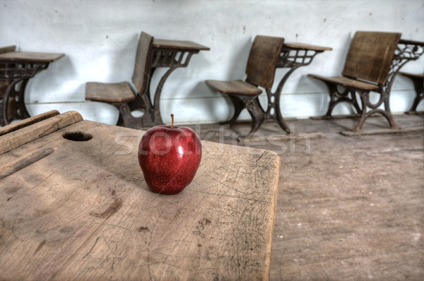 Abandoned School House red apple Stock photo © pictureguy