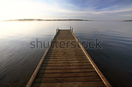 Stock photo: Boat dock on a Saskatchewan Lake