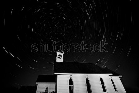 Star tracks over Saint Columba Anglican Country Church Stock photo © pictureguy