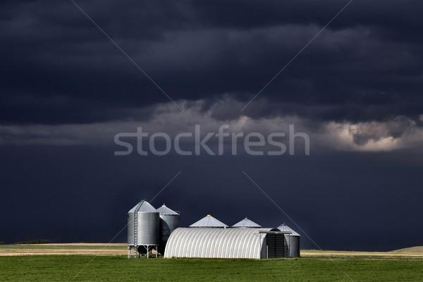 Burzowe chmury saskatchewan niebo charakter piękna Zdjęcia stock © pictureguy