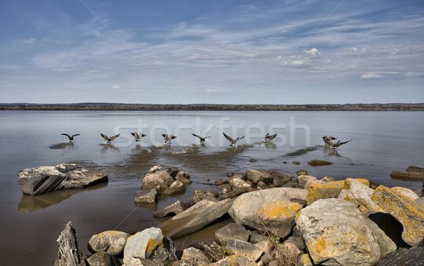 Ashland Wisconson Lake Front Stock photo © pictureguy
