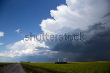 嵐雲 サスカチュワン州 シェルフ 雲 不吉 警告 ストックフォト © pictureguy
