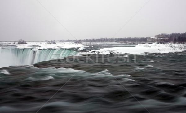 Inverno Niagara Falls congelada neve gelo água Foto stock © pictureguy