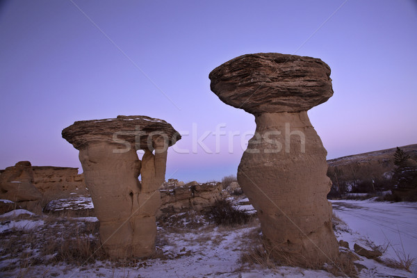 Hoodoos at Writing-on-Stone Provincial Park in Alberta Canada Stock photo © pictureguy