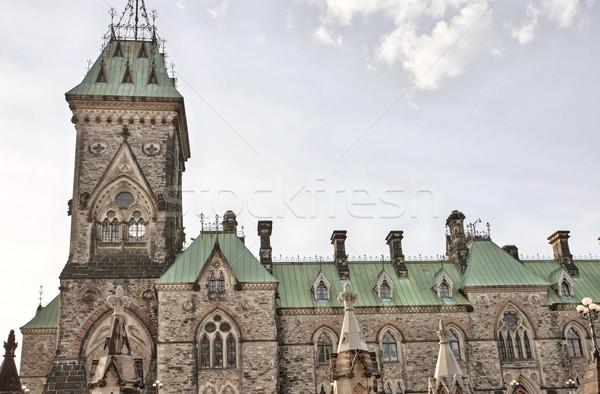 Parlamento Bina Ottawa Kanada şehir merkezinde mimari Stok fotoğraf © pictureguy
