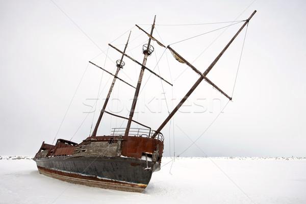 öreg elhagyatott rozsdás vitorlás tó Ontario Stock fotó © pictureguy