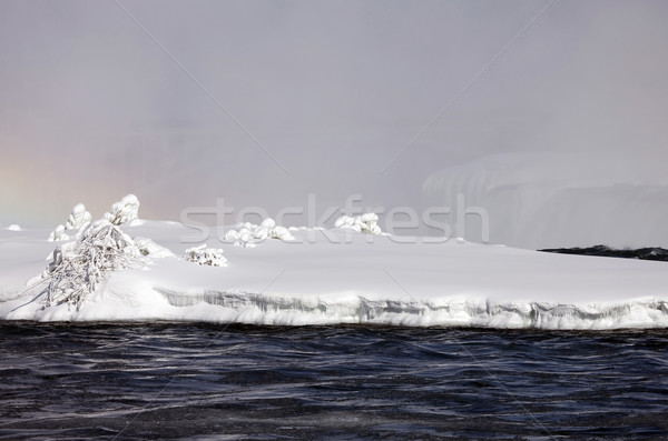 Kış Niagara Şelalesi dondurulmuş kar buz su Stok fotoğraf © pictureguy
