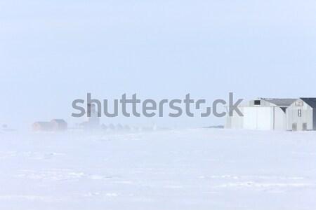 Ciudad ventisca saskatchewan nubes campo Foto stock © pictureguy