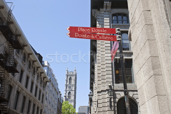 Oude Montreal centrum stedelijke architectuur Stockfoto © pictureguy