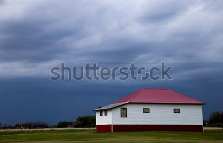 Prairie onweerswolken weer saskatchewan Canada Stockfoto © pictureguy