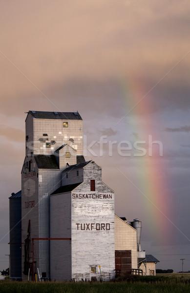 Nubes de tormenta saskatchewan arco iris cielo naturaleza Foto stock © pictureguy