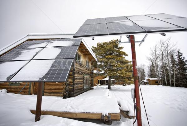 Solar Panels Saskatchewan Stock photo © pictureguy
