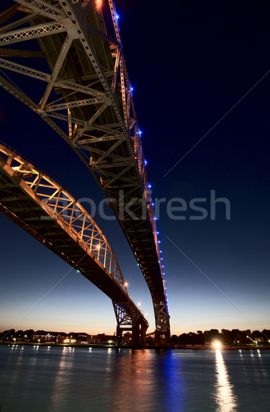 éjszaka fotó kék víz híd Ontario Stock fotó © pictureguy