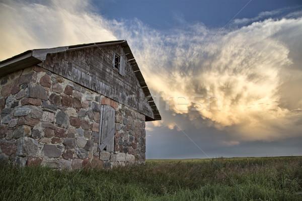 Saskatchewan pradaria cena pedra casa Foto stock © pictureguy
