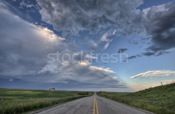 Prairie Road and School House Stock photo © pictureguy