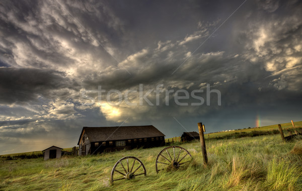 Saskatchewan rodas antigo céu Foto stock © pictureguy