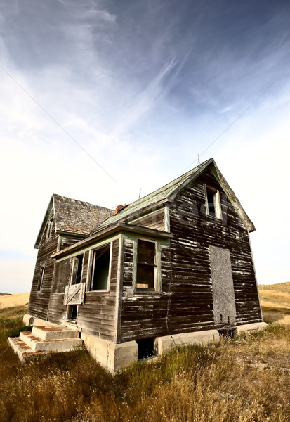 Abandoned old farm house in the Dirt Hills of Saskatchewan Stock photo © pictureguy