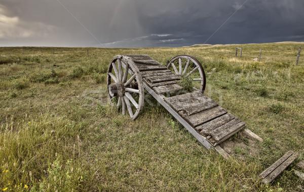 старые прерия колесо корзины Саскачеван Канада Сток-фото © pictureguy