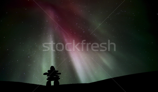 Settentrionale luce sopra saskatchewan viaggio digitale Foto d'archivio © pictureguy