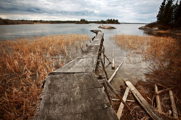 Dilapidated dock on Reed Lake in Northern Manitoba Stock photo © pictureguy
