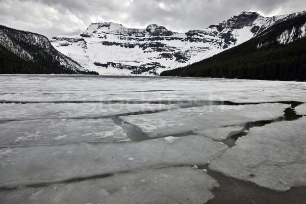 湖 冬 自然 山 氷 屋外 ストックフォト © pictureguy
