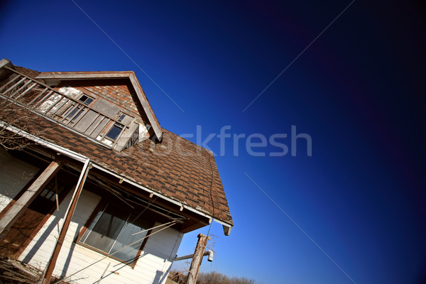 Old Abandoned Farm House Saskatchewan Canada Stock photo © pictureguy