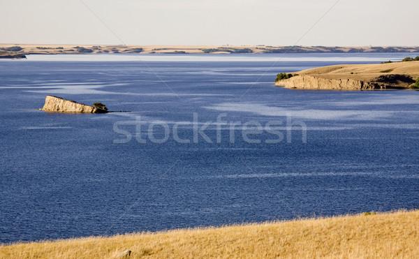 Lago saskatchewan profondità blu fiume Canada Foto d'archivio © pictureguy