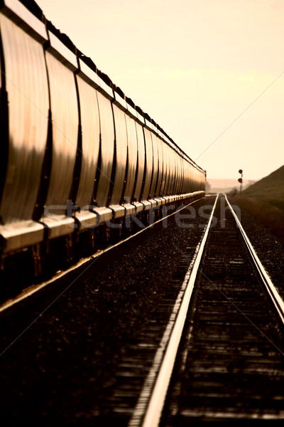 Stock photo: Train at Sunset