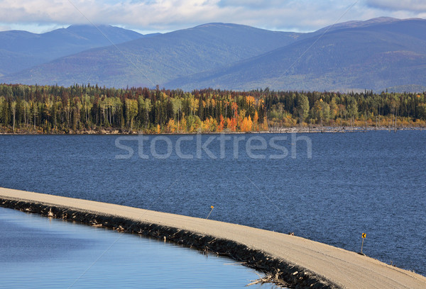Causeway road over Williston Lake in beautiful British Columbia Stock photo © pictureguy
