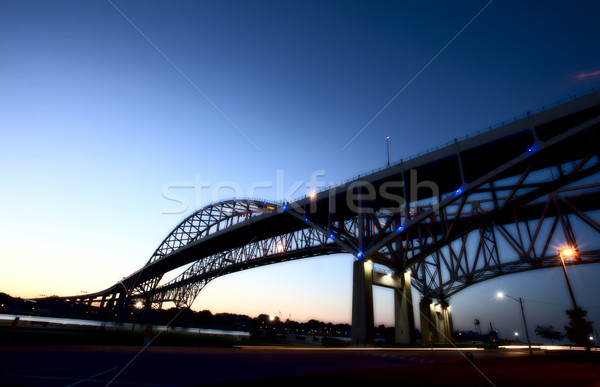 Night Photo Blue Water Bridge Stock photo © pictureguy