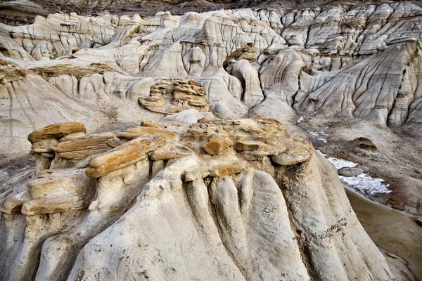 Stock photo: Badlands Alberta  hoo doo
