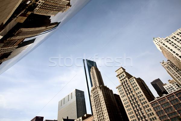Chicago városkép bab belváros park Michigan Stock fotó © pictureguy