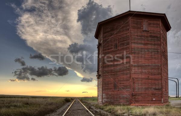 Saskatchewan ferrovia água torre Foto stock © pictureguy