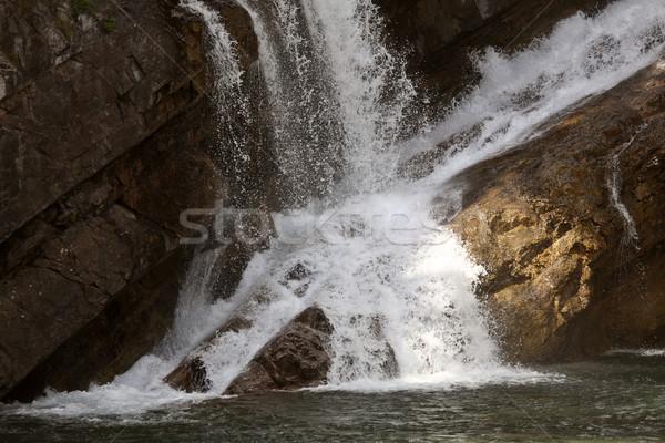 Cameron Falls in Waterton Lakes National Park of Alberta Stock photo © pictureguy