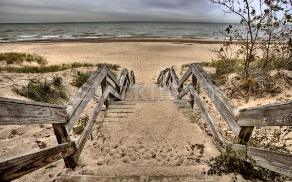 Indiana lago Michigan praia céu natureza Foto stock © pictureguy