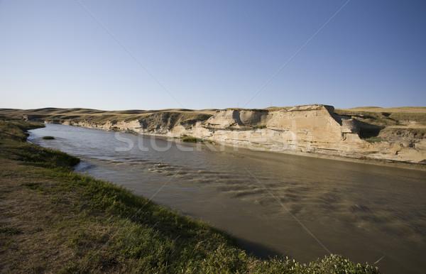 Stock photo: Milk River Alberta Badlands