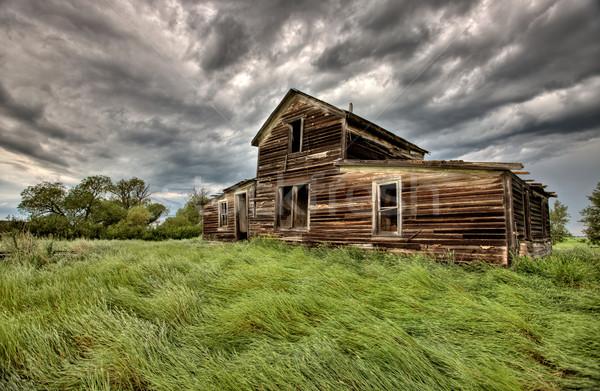Abbandonato farm edifici saskatchewan Canada Foto d'archivio © pictureguy