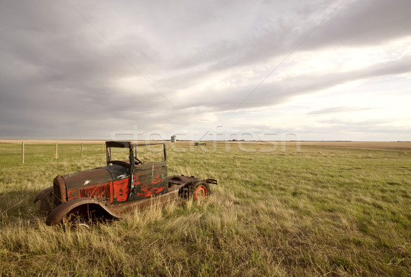 Antique Vintage Old Car in Field Stock photo © pictureguy
