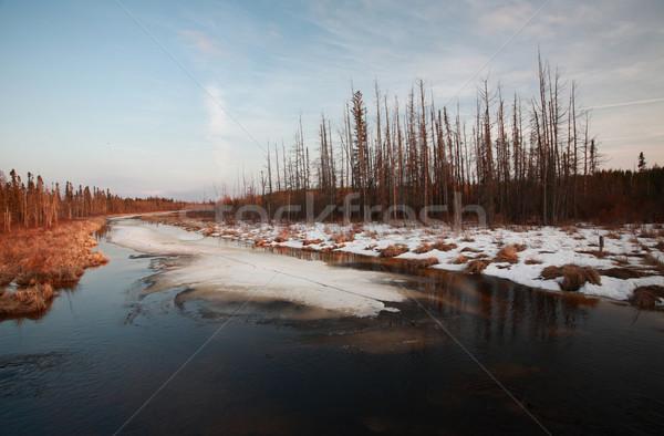 Sunset River Manitoba Canada Stock photo © pictureguy