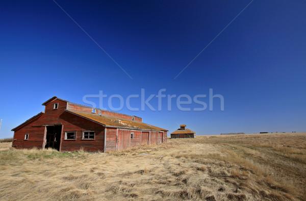Stock photo: Old Abandoned Stables Saskatchewan Canada