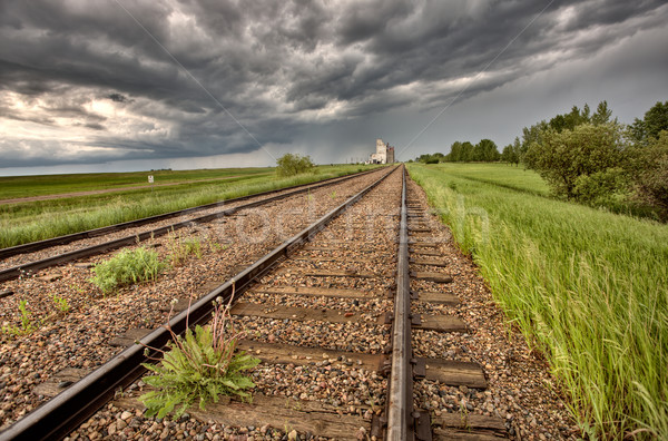Storm Clouds over Grain Elevator Stock photo © pictureguy