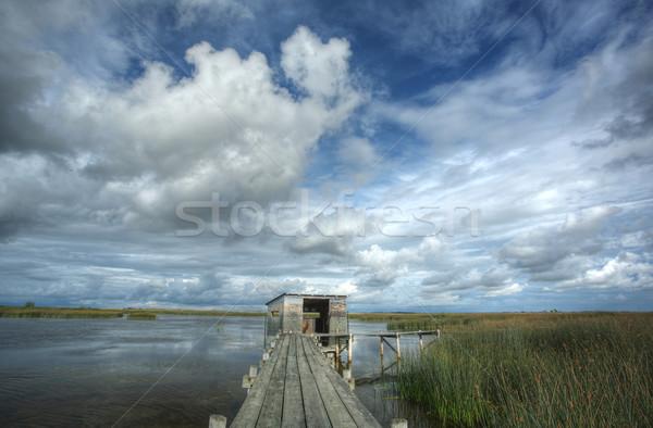 Scenico view saskatchewan acqua nubi natura Foto d'archivio © pictureguy