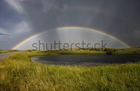 Saskatchewan Storm Rainbow  Stock photo © pictureguy
