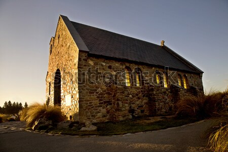 Sun Setting on old School House Stock photo © pictureguy